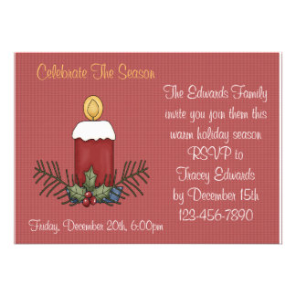 Christmas Candle Invitations