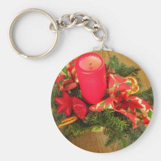 Christmas candle keychain