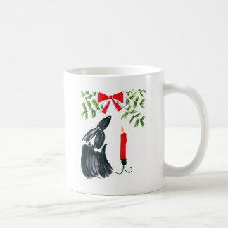 Christmas candle coffee mugs