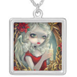 Christmas Candle NECKLACE fairy angel