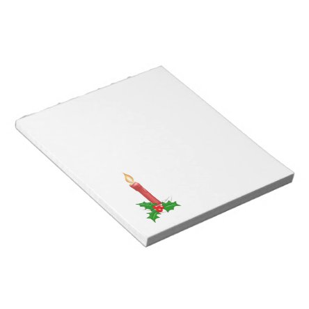 Christmas Candle Notepad