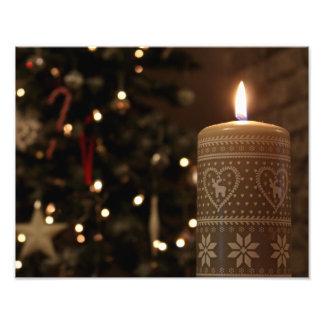 Christmas Candle Print Photo Print