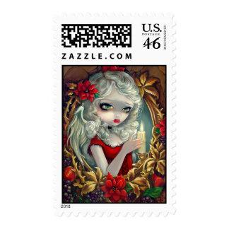 Christmas Candle Stamp