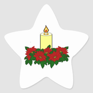 Christmas Candle Star Sticker
