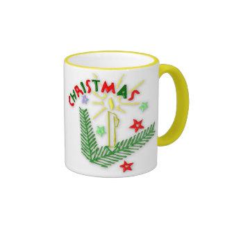 Christmas Candle & Stars Mug