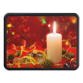 Christmas candle tow hitch covers