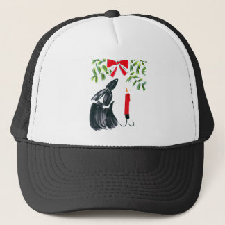 Christmas candle trucker hat
