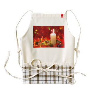 Christmas candle zazzle HEART apron