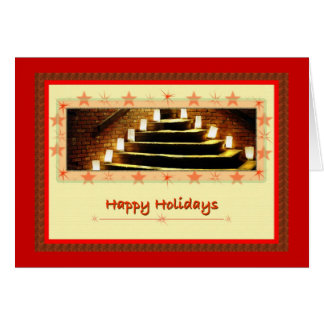 Christmas Candlelight, Happy Holidays Card