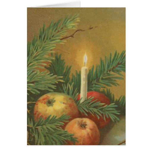 Christmas Candles and Decoration Card