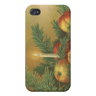 Christmas Candles and Decoration Covers For iPhone 4
