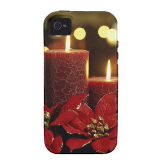 Christmas Candles and Flowers Vibe iPhone 4 Cover