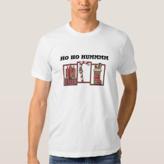 Christmas Candles, Candy Cane & Stocking Tee Shirt