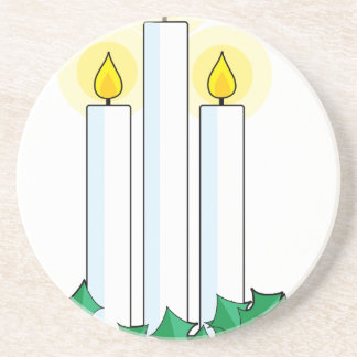 christmas candles coaster