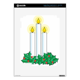 christmas candles decal for iPad 3
