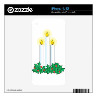 christmas candles decal for the iPhone 4