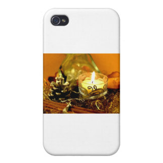 CHRISTMAS CANDLES COVERS FOR iPhone 4
