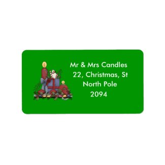 Christmas Candles label