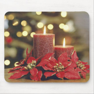 Christmas candles mouse pad
