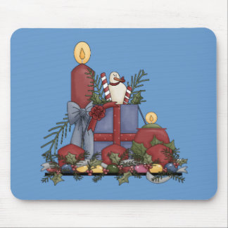 Christmas Candles Mouse Pads