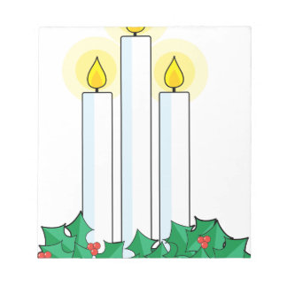 christmas candles notepad