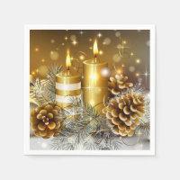 Christmas Candles Paper Napkins