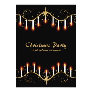 Christmas candles party invitations template