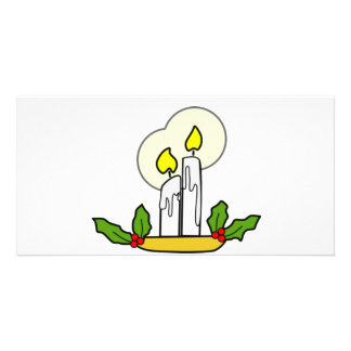 Christmas Candles Photo Greeting Card
