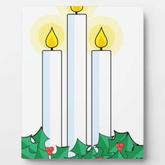 christmas candles plaque