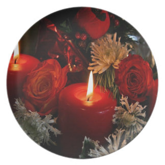 Christmas Candles Party Plates