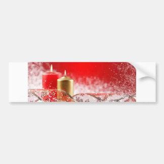 Christmas Candles & Ribbon Bumper Sticker