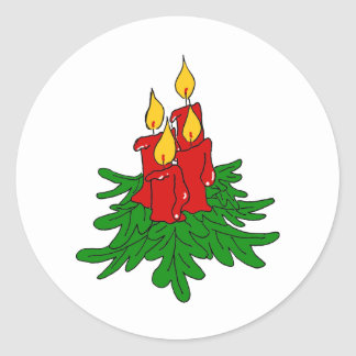 christmas candles sticker