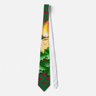 Christmas Candles Tie