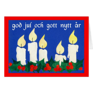 Christmas Candles with Swedish Greeting Card