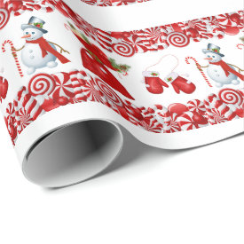 Christmas Candy and Goodies Wrapping Paper