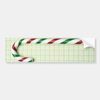 Christmas Candy Cane Bumper Sticker