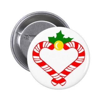 Christmas Candy Cane Button