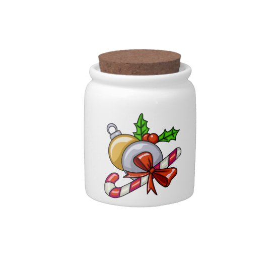 Christmas Candy Cane Candy Jars