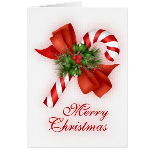 Christmas Candy Cane Greeting Card