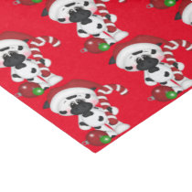 Christmas candy cane cow tissue paper