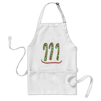 Christmas Candy Cane Design Adult Apron