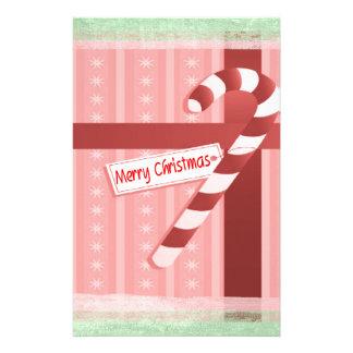Christmas Candy Cane Gift Set Stationery