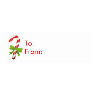 Christmas Candy Cane Gift Tags Business Card Template