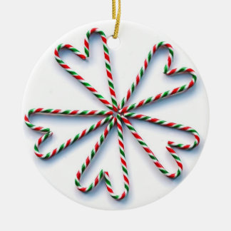 Christmas Candy Cane Heart Flower Christmas Tree Ornaments