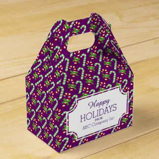 Christmas Candy Cane Holiday Gift Box Party Favor Boxes