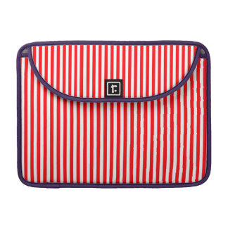 Christmas Candy Cane in Christmas Red Sleeve For MacBooks
