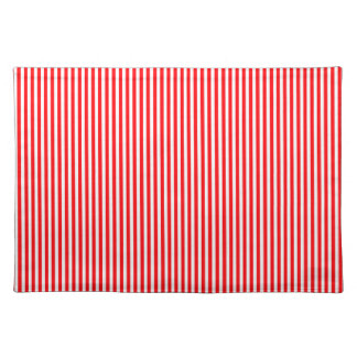 Christmas Candy Cane in Christmas Red Cloth Place Mat