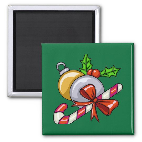 Christmas Candy Cane Magnet