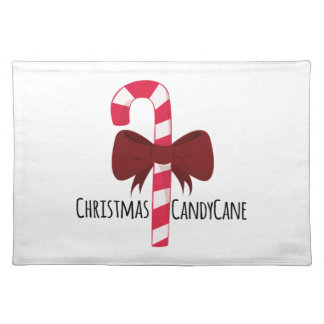 Christmas Candy Cane Cloth Placemat
