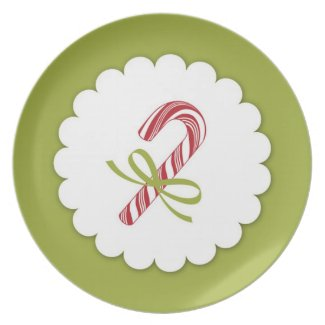 Christmas Candy Cane Plate plate